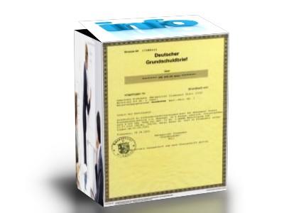 Kapitalnachweise mit Grundschuldbriefen von EUR 50.000 bis EUR 1 Mio.